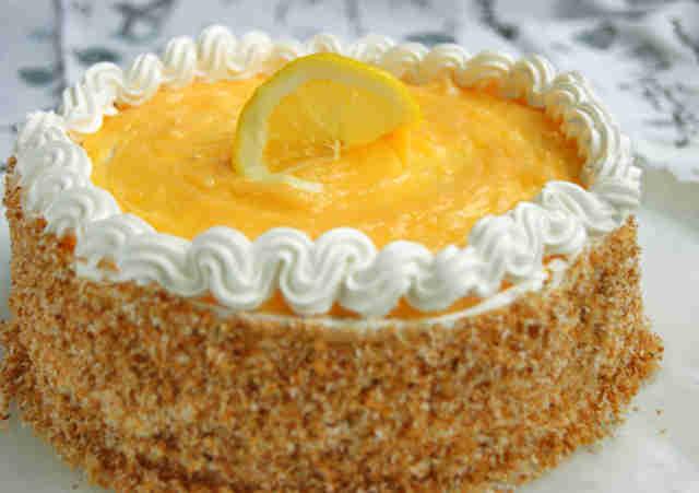 Лимонно-кокосовый торт