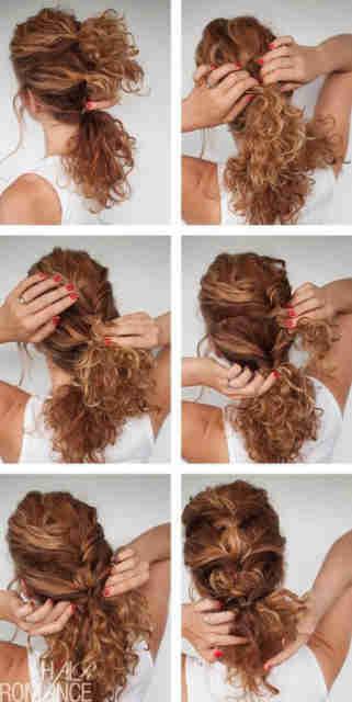 Легкие прически на средние волосы кудрявые волосы